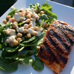 Spiced Rubbed Salmon with Chickpea Salad