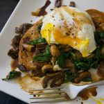 Fried Egg with Mushrooms & Spinach