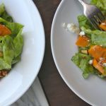 Persimmon & Butter Lettuce Salad