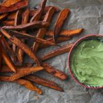 Spicy Sweet Potato Fries w/ Avocado Dip