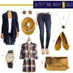 OUTFITTING: Navy & Gold