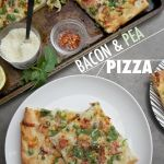 Bacon & Pea Pizza