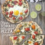 Corn Tomato Shishito Pepper Pizza