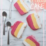 Raspberry Mango Ice Cream Cake