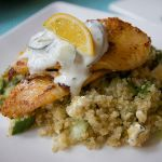 Tilapia and Quinoa with Feta & Cucumber