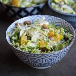 Brussels Sprouts Salad w/ Pecorino + Oranges
