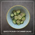 Quick Pickled Cucumber Salad