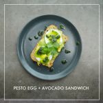 Pesto Egg + Avocado Sandwich