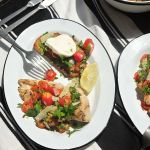 Grilled Chicken with Tomato Parsley Salad