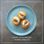 Honey Mascarpone Stuffed Apricots