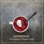 Raspberries with Framboise & Cream