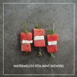 Watermelon Feta Mint Skewers