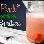 Peach Rosemary Spritzers