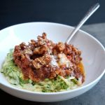 Zucchini Noodles with Sausage