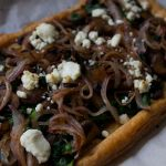 Mushroom & Spinach Tart with Goat Cheese