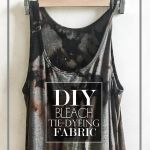 DIY Bleach Tie Dyeing Fabric