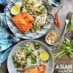 Spicy Asian Salmon Noodle Salad