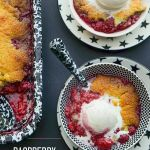 Raspberry Cornmeal Cobbler