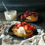 Ricotta Pancakes with Roasted Strawberries