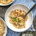 Orzo with Pancetta and Pine Nuts