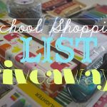 SCHOOL SHOPPING LIST GIVEAWAY!