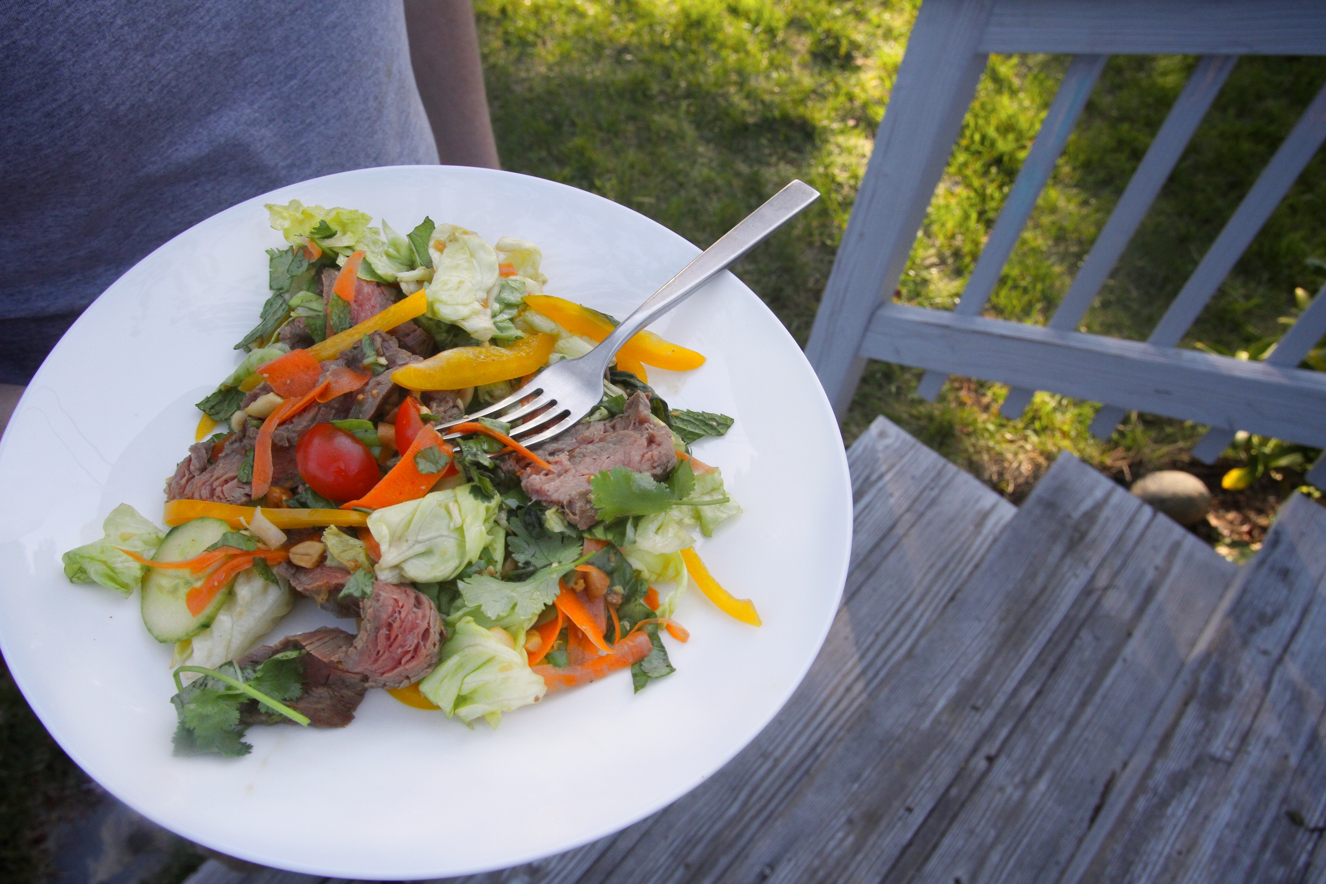 Thai Beef Salad with Herbs - Shutterbean