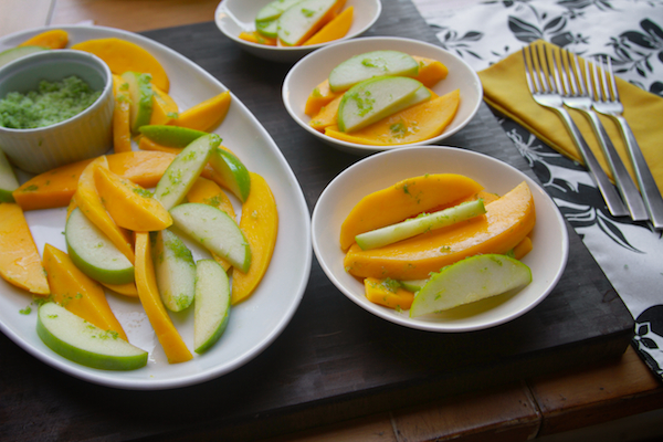 Sliced Mango With Sugared Lime Zest Recipe — Dishmaps