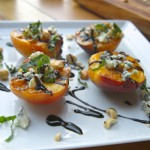 Grilled Peaches with Blue Cheese & Hazelnuts // shutterbean