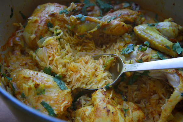 CURRIED CHICKEN with COCONUT RICE // shutterbean