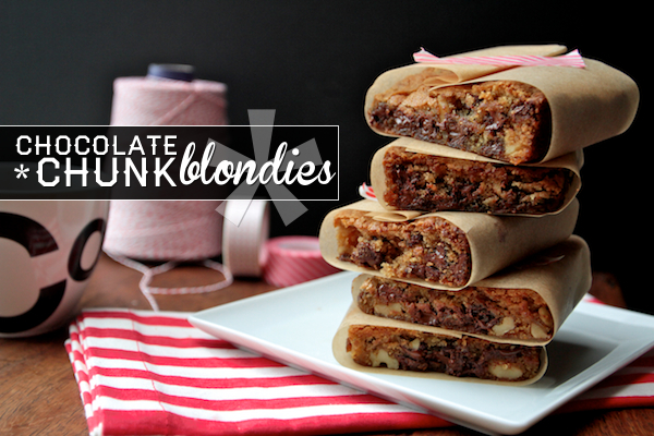 Chocolate Chunk Blondies