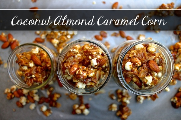 Coconut Almond Caramel Corn // shutterbean