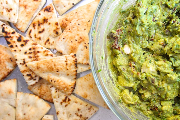 Goat Cheese Guacamole w/ Pita Chips