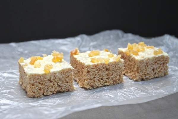 Lemon Ginger Crispy Treats // shutterbean