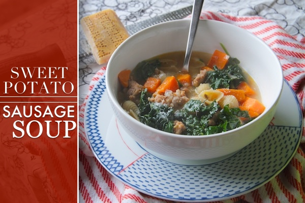 Sweet Potato & Sausage Soup // shutterbean