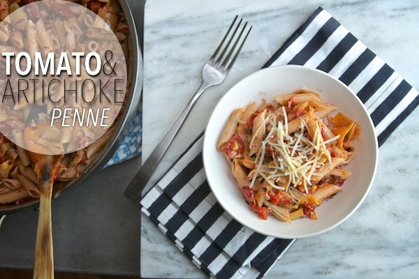 Tomato &amp; Artichoke Penne // shutterbean