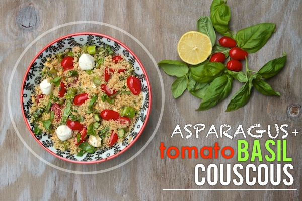 Asparagus Tomato Basil Couscous // shutterbean