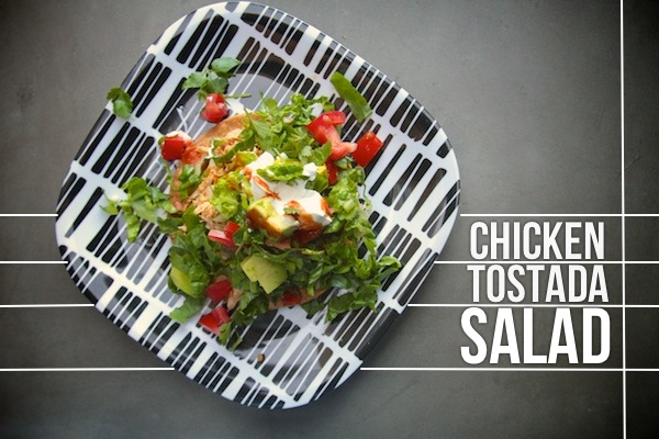 Chicken Tostada Salad // shutterbean