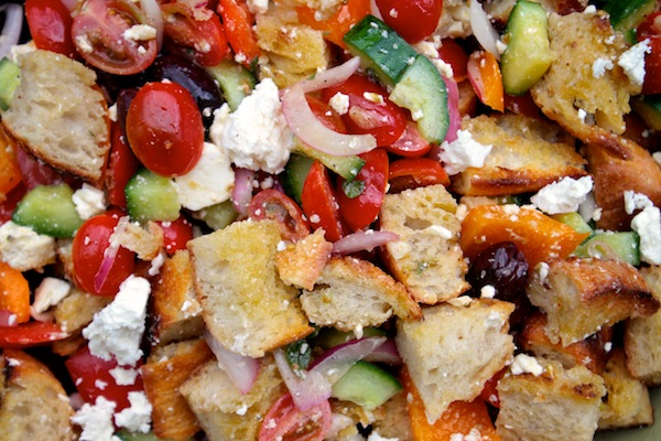 Greek Panzanella grilled greek panzanella - shutterbean