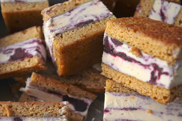 Lemon Blueberry Ice Cream Sandwiches // shutterbean