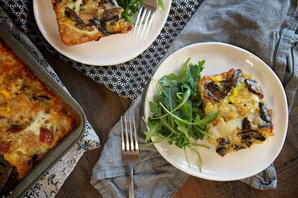 Pasta Frittata with Taleggio & Mushrooms // shutterbean