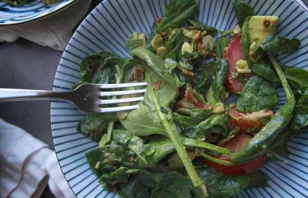 Spinach Bacon Salad // shutterbean