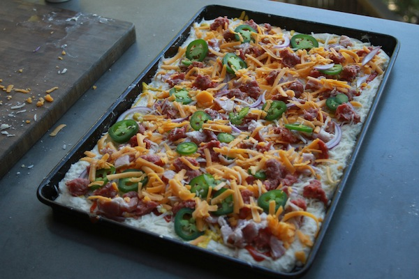 Bacon Cheeseburger Pizza -- shutterbean