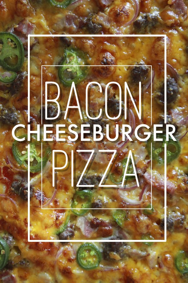 Bacon Cheeseburger Pizza // shutterbean