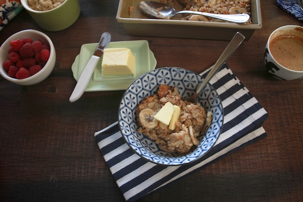 Banana Walnut Baked Oatmeal