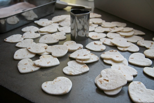 Heart Shaped Cinnamon Sugar Tortilla Chips // shutterbean