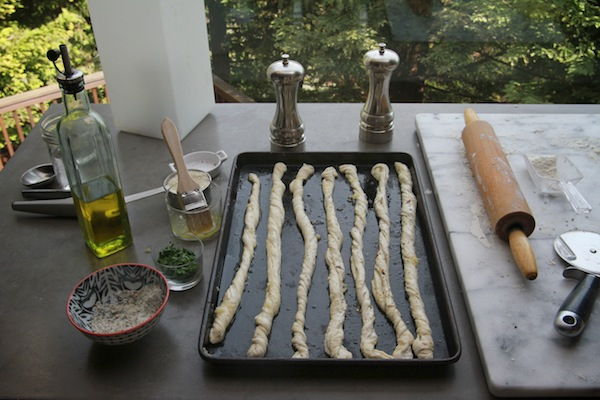 Garlic Herb Bread Twists // shutterbean