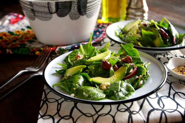 Spinach Salad with Dukkah // shutterbean