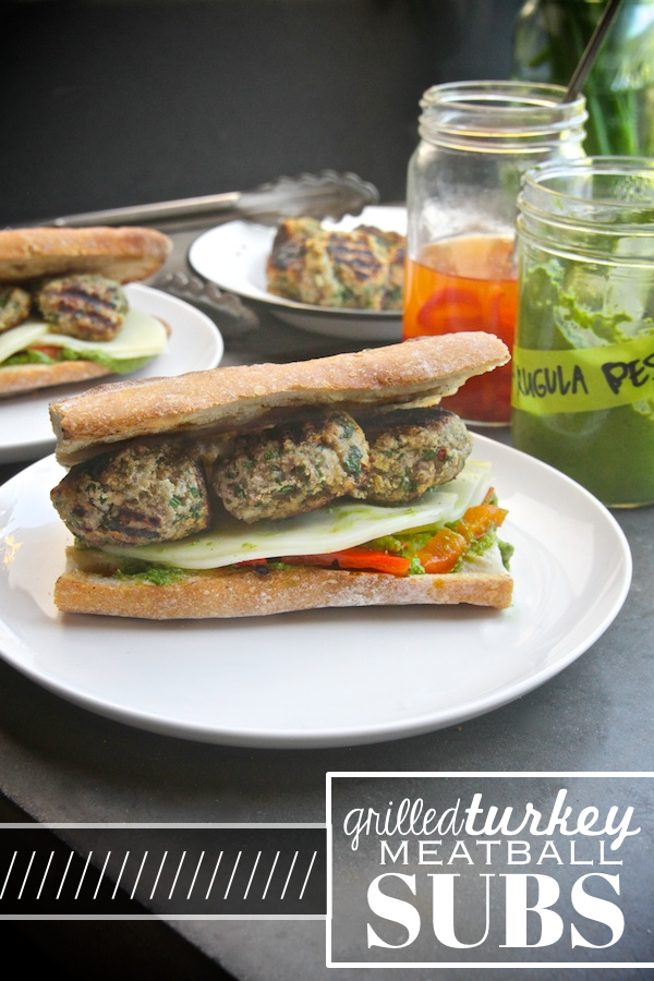 Grilled Turkey Meatball Subs // shutterbean