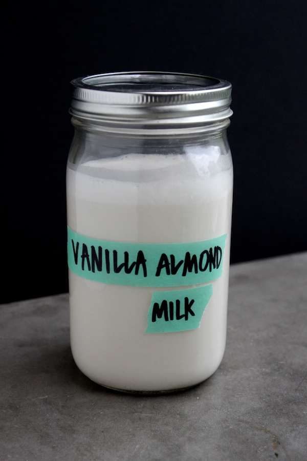 Homemade Vanilla Almond Milk // shutterbean