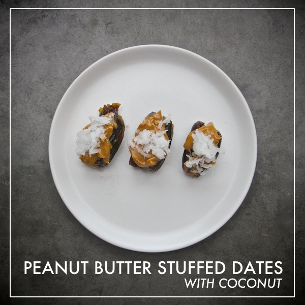 Peanut Butter Stuffed Dates // shutterbean